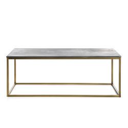 Bord Gustav grå/gull 120x55x45 cm