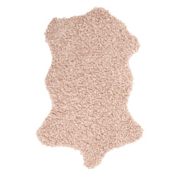Skinn Ulla m/fuskepels lys rosa 60x90 cm