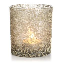 Telysglass Gloria m/glitter beige 9 cm