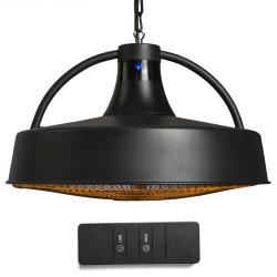 Varmelampe for heng sort 2100W m/ fjernkontroll 47,5cm