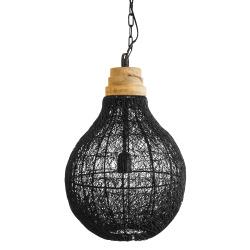 Lampe heng sort wire H:43 cm