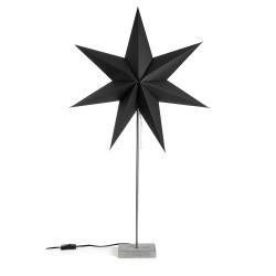 Papirstjerne på fot 60 cm sort