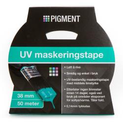 Maskeringstape UV 38 mm 50 m blå Pigment