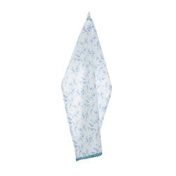 Kjøkkenhåndkle hvit med blå blader H:70 B:50 cm