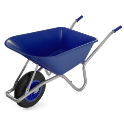 Trillebår 85 liter blå 145x58x60