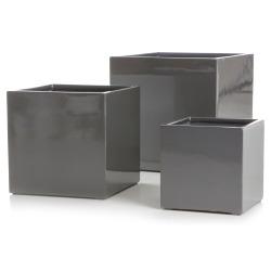 Potte s/3 Milano kvadrat grå