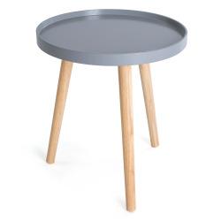 Bord Willy m/ben i tre grå ø:40 cm
