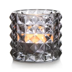 T-lysglass Diana glass grå H:8,5 cm