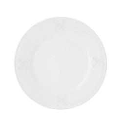 Asjett Snørose hvit m/relieff Ø:20,5 cm