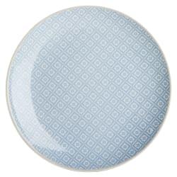 Asjett Songvaar lys blå m/hvitt mønster