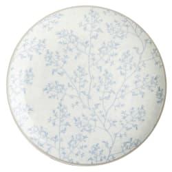 Asjett Songvaar hvit m/lysblått mønster