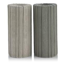 Telysestake h17 cm strikkemønster 2ass grå/krem