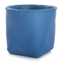 Urtepotte sement blå H:12,5 cm