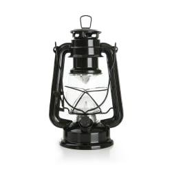 Fjøslykt m/LED-lys sort