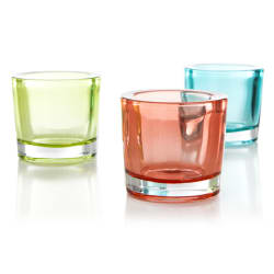 Telysglass 3pk grønn/orange