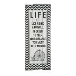 Skilt sort/hvit Life