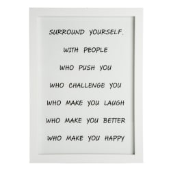 "Bilde ""surround yourself"" H:38 L:28 cm"