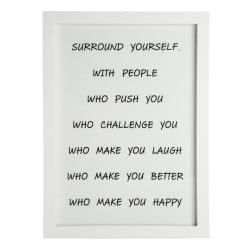 "Bilde ""surround yourself"" H:38 L:28 cm"