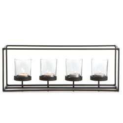 Telysestake sort jern m/fire telysglass
