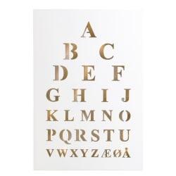 """Bilde m/LED lys """"Alfabet"""" H:50 cm"""