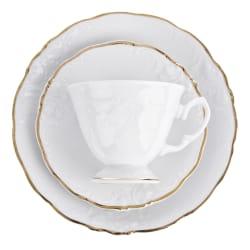 Kaffeservise m/gullkant 18 deler