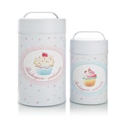 Bokser s/2 cupcakes hvit med motiv