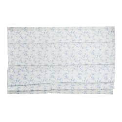 Liftgardin hvit m/blå blader 120x130 cm Songvaar