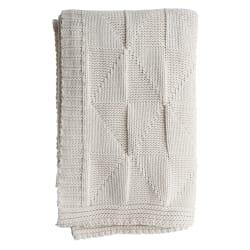 Pledd strikket offwhite Millie 125x150 cm