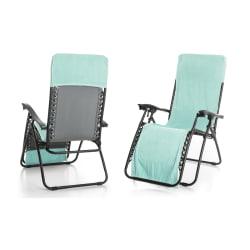 Strandhåndkle m/hette til å henge over stol mint