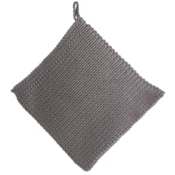 Gryteklut strikket grå 20x20 cm
