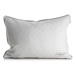 Pute lys grå m/hvitt trykk mørk grå bakside 40x60 cm