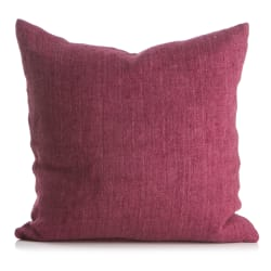 Putetrekk Olivia 100% lin mørk rosa 50x50