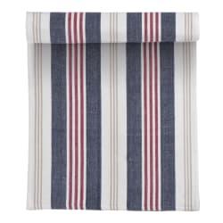 Løper striper rød blå og beige 35x100 cm