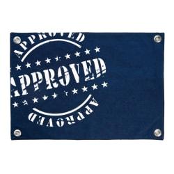Spisebrikke Florida Approved blå og hvit 33x48 cm