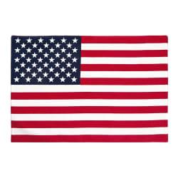 Spisebrikke Florida flagg blå, rød og hvit 33x48 cm