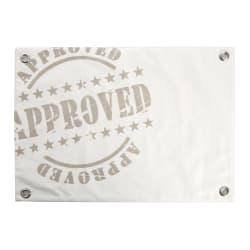Spisebrikke Florida Approved hvit og beige 33x48 cm
