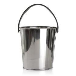 Bøtte/potte i stål m/sort håndtak H:24 Ø:23 cm