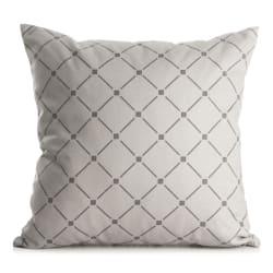 Pute m/polyesterfyll 45x45 cm grå ruter