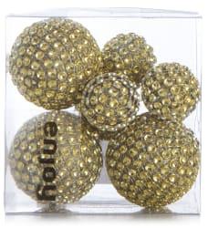 Dekorballer 8 stk 2str i eske gull