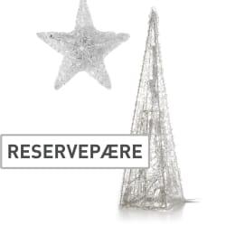 Reservepære 5 pk til akrylkjegler/-stjerne