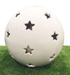 Dekorkule m/stjerner Milano hvit
