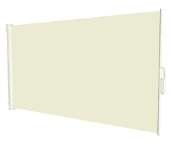 Levegg 1,6x3 m, beige m/hvit ramme