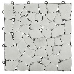 Hageflis hvit marmor 30x30 cm