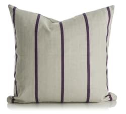 Madame pute m/dunfyll linfarget m/stripe i plomme 50x50 cm