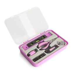 Verktøysett 24 deler rosa