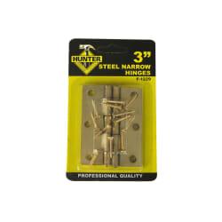 Hengsle 6x7.5cm messingfarget stål