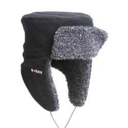 Korean hat fleece S/M fleece sort Eiger