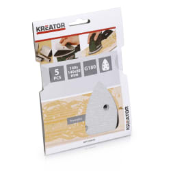 Pussepapir 5 pk K180 for maling minisliper 140 x 140 x 80 mm