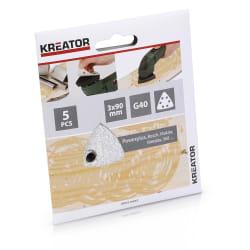 Pussepapir 5 pk K40 for maling trekantsliper 90 x 90 x 90 mm