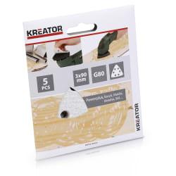 Pussepapir 5 pk K80 for maling trekantsliper 90 x 90 x 90 mm